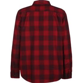 Carhartt Hubbard Slim Fit Flannel Shirt Heren, dark crimson